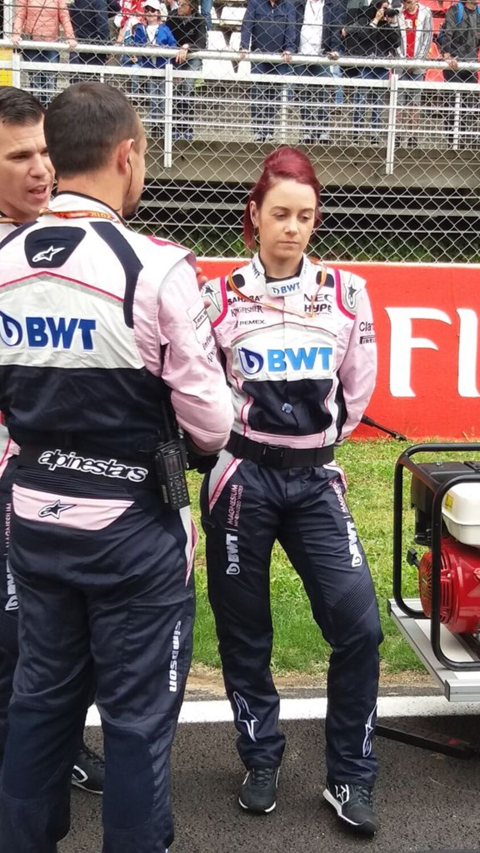 F1, ecco le vere grid girl, le meccaniche Force India Michelle e Emilie