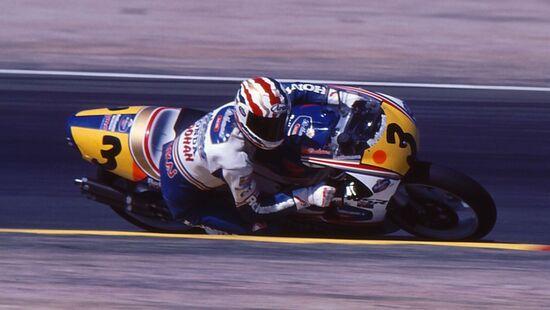 Doohan impegnato nel Mondiale 1991