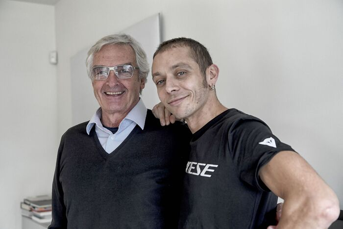 Lino Dainese con Valentino Rossi