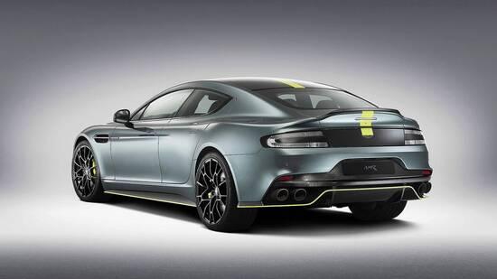 Il tre quarti posteriore della nuova Aston Martin Rapide AMR