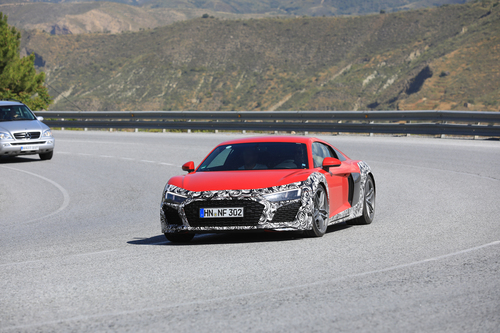 Audi R8 restyling, le foto spia (5)
