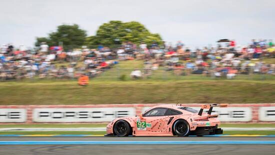La Porsche rosa vincitrice in GTE