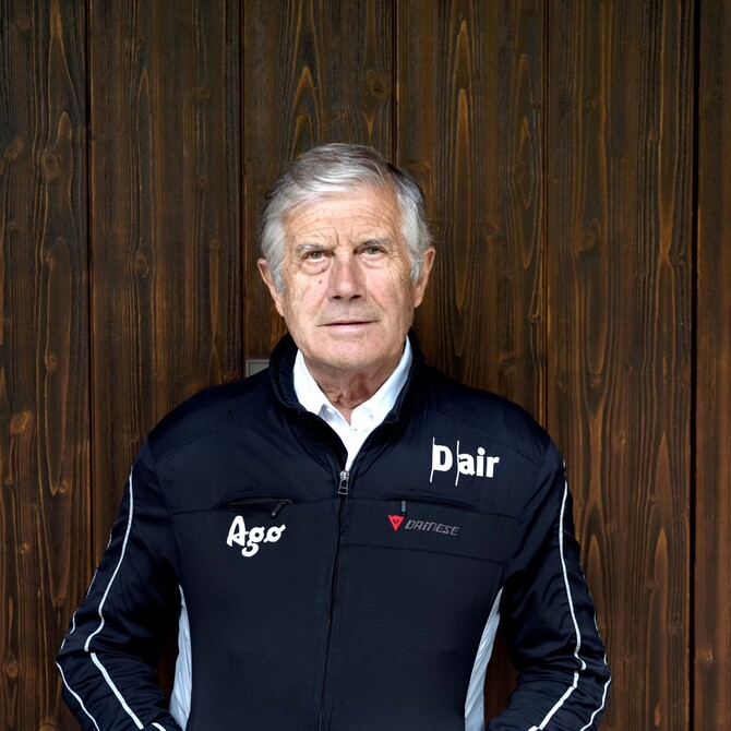 Ritratto di Giacomo Agostini, da sempre legato a Dainese (Photo by Gabriele Micalizzi)