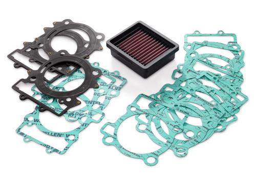 Il filtro aria e le guarnizioni per giocare con il rapporto di compressione