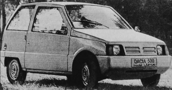 La Dacia 500 con carrozzeria in vetroresina e bicilindrico da 500 cm3. Fu un flop per i continui guasti