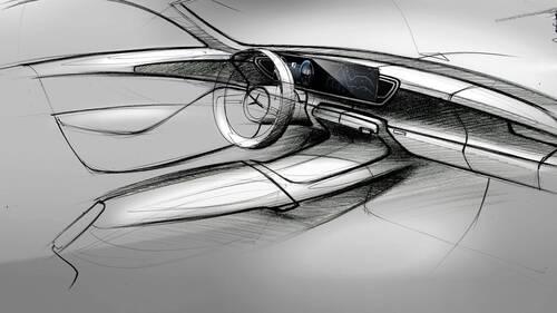 Nuova Mercedes GLE, i bozzetti degli interni (3)