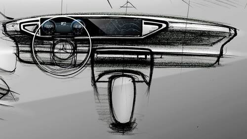 Nuova Mercedes GLE, i bozzetti degli interni (5)