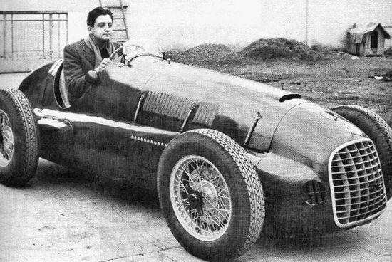 Dino Ferrari al volante di una F1