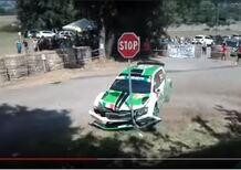 CIR 2018, Rally di Roma: l'incidente al via di Scandola [video]