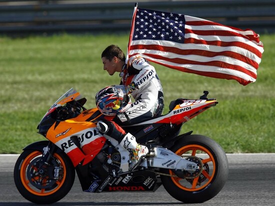 Nicky Hayden nel 2006, anno del suo titolo mondiale in MotoGP