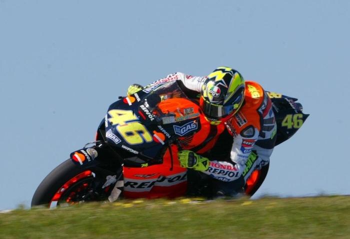 Rossi a Phillip Island nella sua ultima stagione in Honda