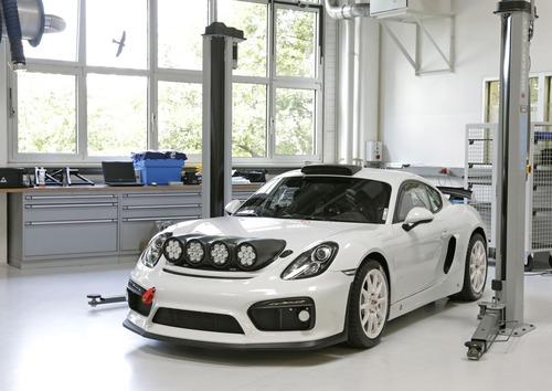 Porsche Cayman GT4 Clubsport Rally Concept, Cayman da rally (3)