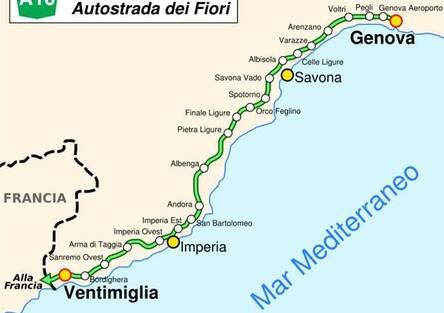 Crollo Viadotto A10 Genova: Viabilità alternativa