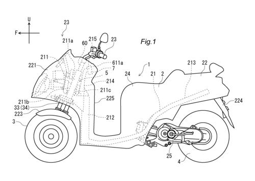 L'Airbag per scooter e i brevetti Yamaha (7)