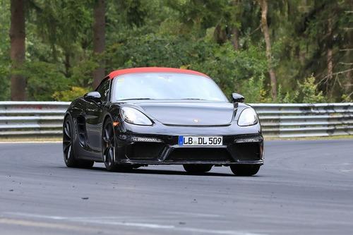 Porsche 718 Boxster Spyder, le foto spia al Nürburgring