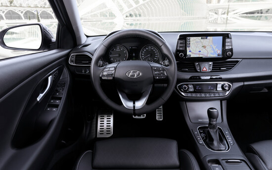Gli interni della nuova Hyundai i30 Fastback