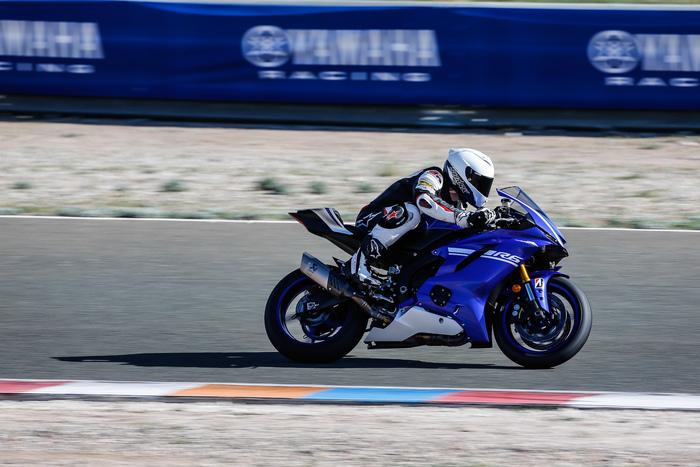 La Yamaha YZF-R6 nel nostro test ad Almeria
