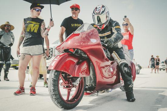 La moto a Bonneville