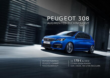 Peugeot 308 in offerta: da 179 euro al mese