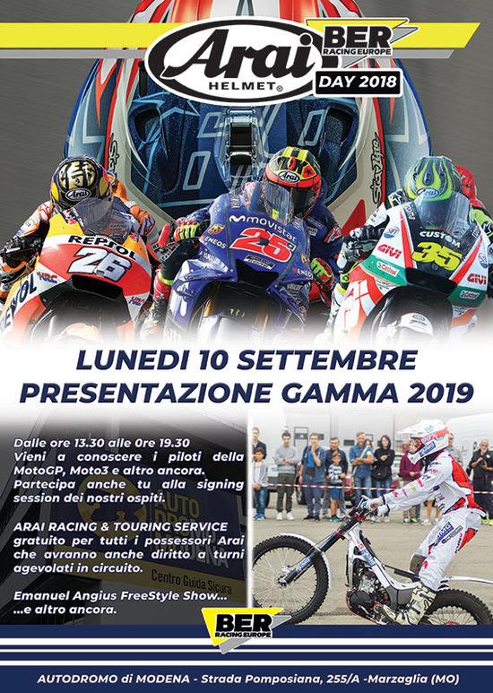 Arai Day 2018: lunedì 10 settembre all'autodromo di Modena