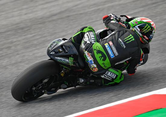 MotoGP 2018. FP3, la pista si asciuga, Zarco il più veloce