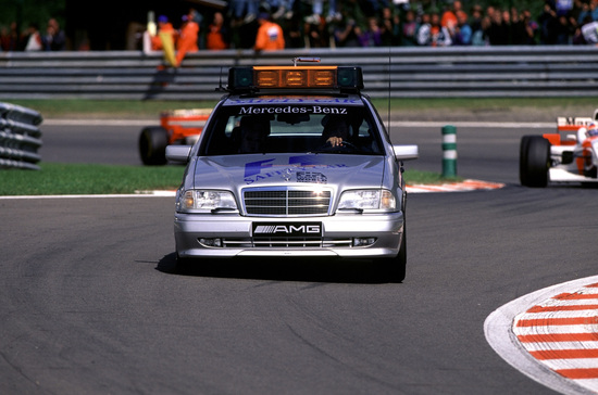 La Mercedes C 63 AMG nelle vesti di safety car in Formula 1: è il 1996