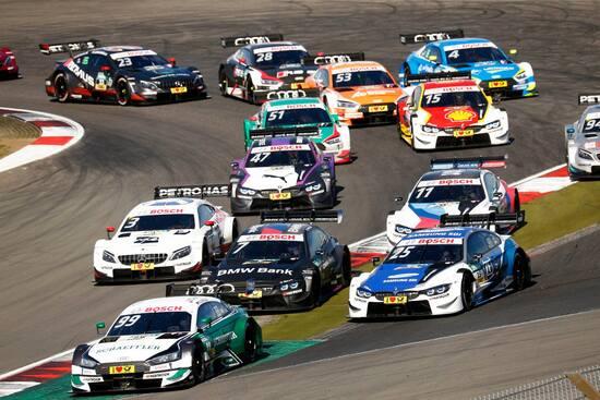 Un'immagine di gara 2 al Nürburgring