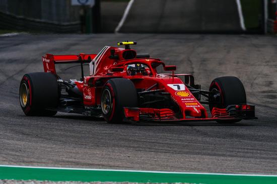 Kimi Raikkonen in pista a Monza