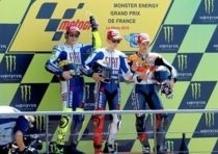 Lorenzo vince a Le Mans, Rossi secondo, terzo Dovizioso