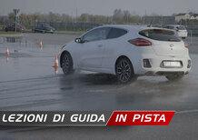 Corso di guida in pista per le GT, le piccole sportive. 4 - La guida sul bagnato