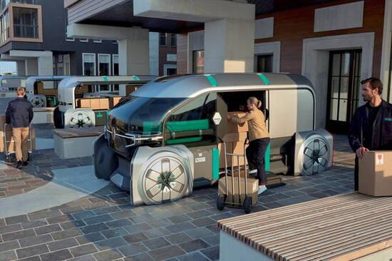 Il concept del robot-pod per le consegne dell'ultimo miglio del futuro