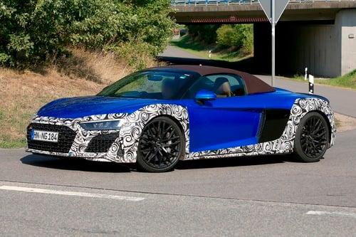 Audi R8 Spyder restyling, le foto spia (4)