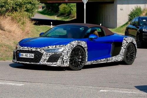 Audi R8 Spyder restyling, le foto spia (6)
