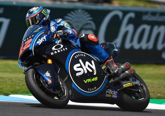 Bagnaia vince in Moto2 e Di Giannantonio in Moto3