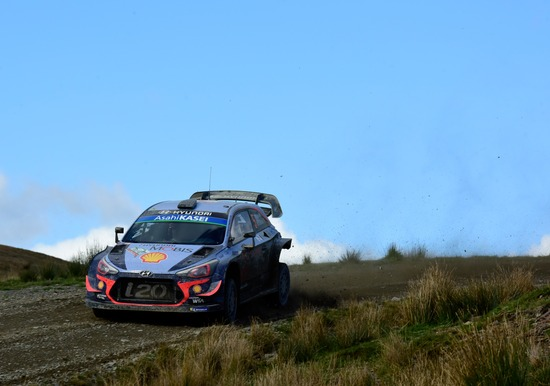 Thierry Neuville in Galles