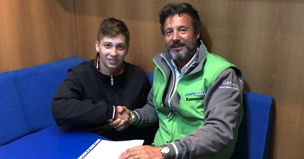 Thomas Brianti nel CIV 2019 con il team Prodina Ircos Kawasaki