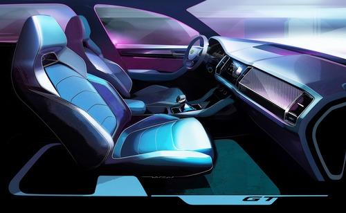 Skoda Kodiaq GT, i primi disegni del SUV coupé per il mercato cinese (2)