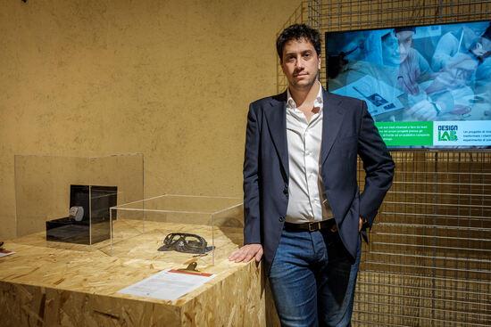 Michele Coggiola con la maschera Opal