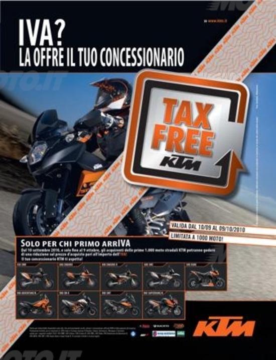 Tax Free: KTM sconta l'IVA