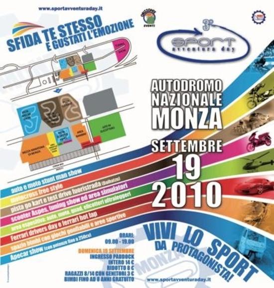 Domenica 19 a Monza va in scena lo Sport Avventura Day