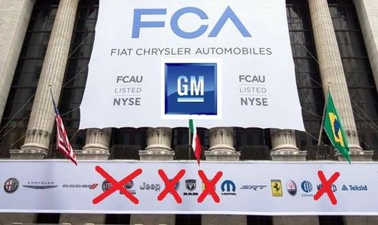 FCA quotata al NYSE con tutti i suoi marchi, poco tempo addietro e le X su quelli che se ne andrebbero