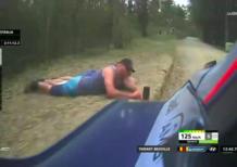 WRC 2018 Australia, Stranezze: pazzo che scatta foto sotto le auto e trattore