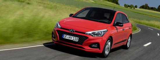 Un'immagine dinamica della Hyundai i20