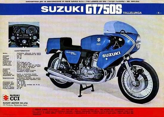 La Suzuki Vallelunga in una dépliant dell'epoca