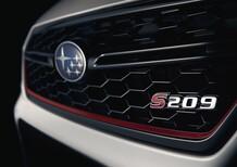 Subaru STI S209, il 1° dettaglio del nuovo modello per Detroit 2019