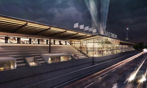 Berlino: le vecchie tribune dell'Avus si trasformano per il centenario del '21