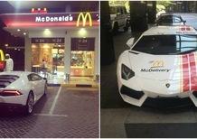 Lamborghini, a Dubai fanno le consegne di McDonalds