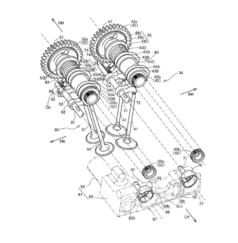 Honda, brevetto per fasatura variabile. In arrivo la nuova V4? (2)