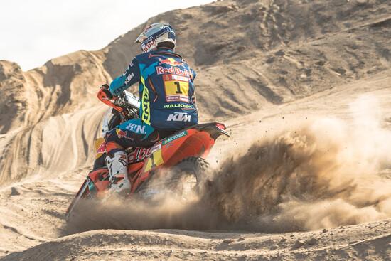 Matthias Walkner in azione nella Tappa 8 della Dakar 2019 in Perù