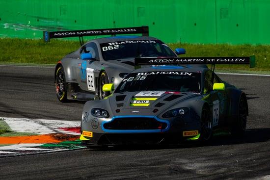 Le due Aston Martin Vantage GT3 V12 di R-Motorsport nella Blancpain GT Series Endurance Cup 2018